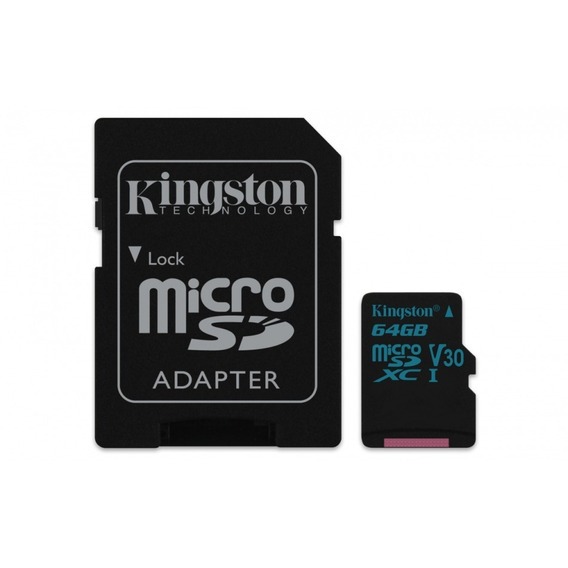 Cartão Kingston Micro Sdxc 64gb Uhs-1 C10 U3 V30 90-45mb/s