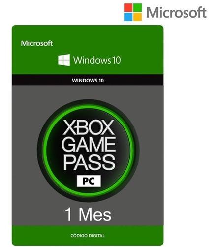 Xbox Game Pass Pc 1 Mes Código Digital