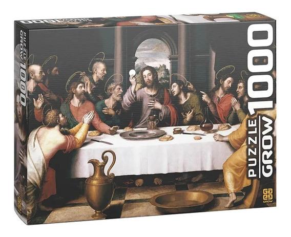 Quebra Cabeça Puzzle Grow Santa Ceia 1000 Peças Original