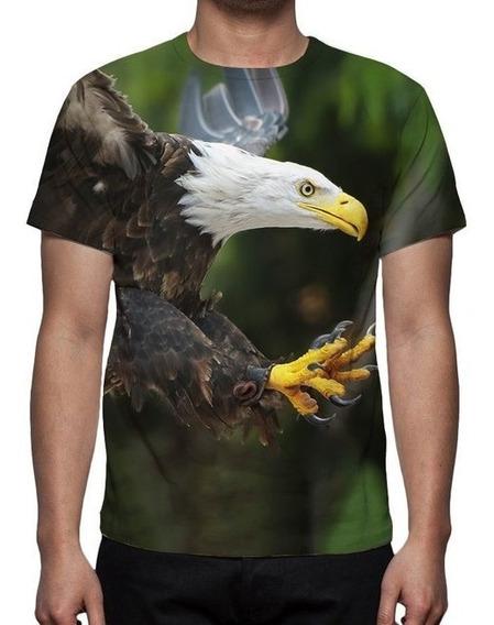 Camisa, Camiseta Águia Americana - Estampa Total