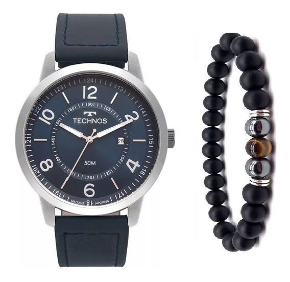 Relógio Technos Masculino 2115mst/0a Couro Sport + Pulseira