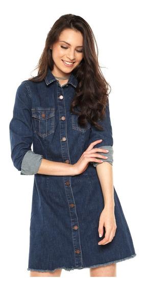 Vestido Cantão Blue Jeans Carolita Tam Gg Com Tag