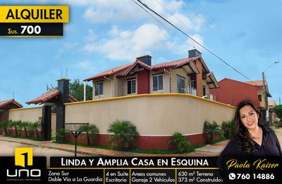 Linda Y Amplia Casa En Alquiiler