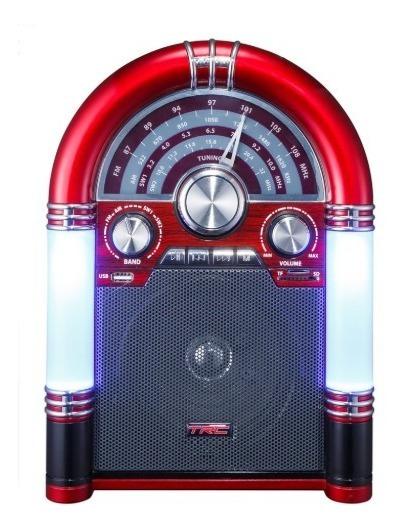 Caixa De Som Trc 210 Portátil Retro Usb Bluetooth 35w Bateria Radio Am/fm