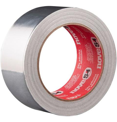 Imagem 1 de 7 de  Fita Adesiva De Aluminio 50mmx30m Dissipar Calor Nove54