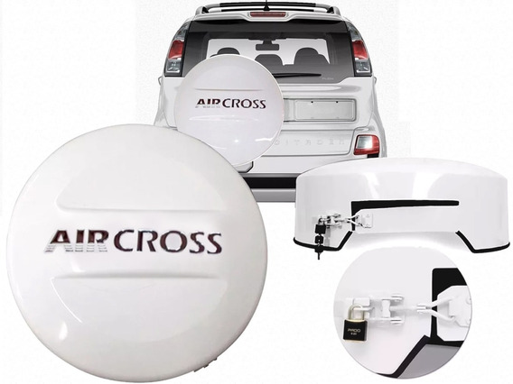 Capa De Estepe Rígida Nova Aircross Com Cadeado Cor Original