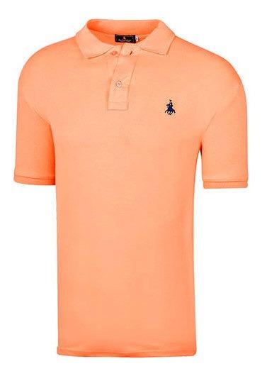 Polo Polo Club 102 Hombre Talla Chi-xgd Color Naranja Pk-oi