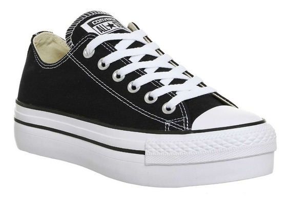 Zapatillas Converse All Star Plataforma Negro Exclusiva Dama