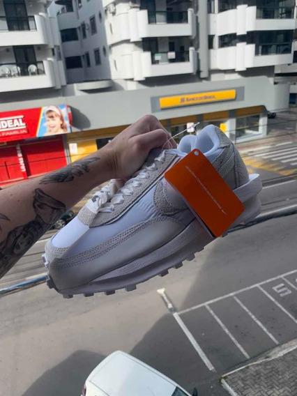 Tênis Nike Ld Waffle Sacai White Nylon - 40,5 Br / 9 Us