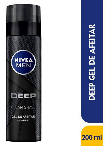 Gel De Afeitar Nivea Men Deep Clean Shave X 200ml