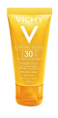 Protetor Solar Facial Vichy - Idéal Soleil Toque Seco Fps30 40g