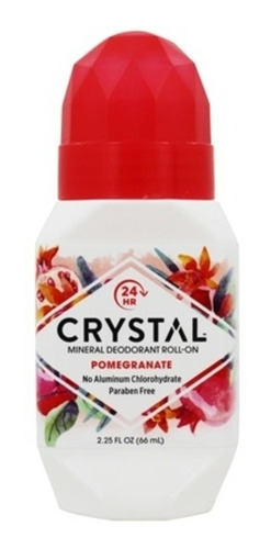 Desodorante Crystal Roll-on Romã 66ml Sem Alumínio/parabenos