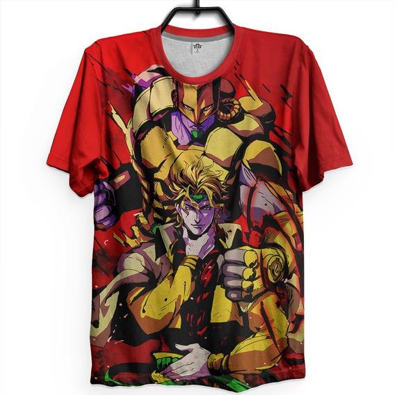 Camiseta Unissex Anime Jojo Bizarre Adventure Dio Brando Hq