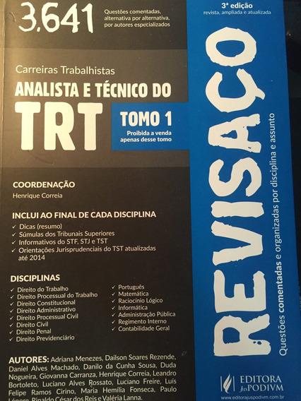 Revisaço Analista E Técnico Trt 2015 02 Livros Frete Grátis