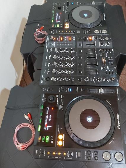 Par De Cdj Pioneer 850k + Mixer Behringer 900