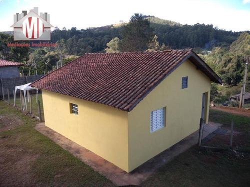 Imagem 1 de 29 de Chácara Com Escritura, Pertinho Da Cidade, Linda Vista, 02 Dormitórios À Venda Por R$ 220.000 Em Pedra Bela/sp - Ch0467