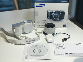 Camera Samsung Nx300 Smart Camera Branca Completa Na Caixa