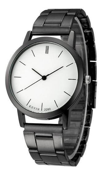 Reloj Elegante Metálico De Moda Para Caballero Envío Gratis