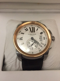 Cartier Calibre Ouro Rose 42mm Completo Automatico Deployant