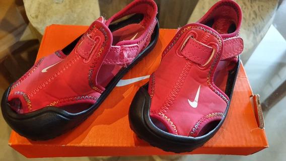 Sandalias Sunray Protect Fucsia Nike Talla 24 Impecables 10v