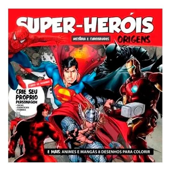 Livro Super Heróis Origens Histórias + Curso De Desenho