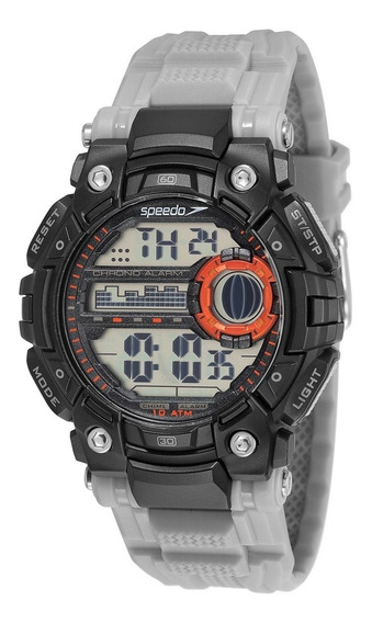 Relógio Masculino Digital Preto E Cinza Speedo Prova Dágua