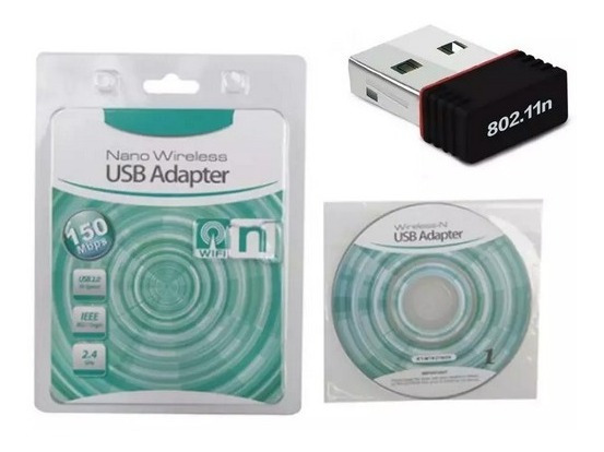 Adaptador Usb Wifi Nano Mini 150mbps Placa De Red En Blister