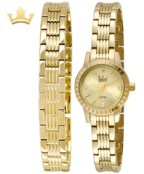 Relógio Dumont Feminino Du2035lnr/4x C/ Garantia E Nf