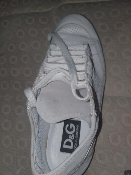Tenis Color Blancos Marca D&g
