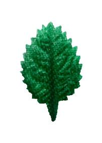 Folhas Artificiais Artesanato Rosa N° 00 Cetim Verde 60un