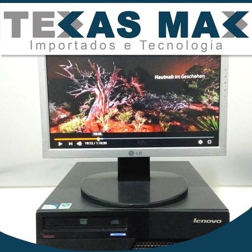 Imagem 1 de 5 de Computador Lenovo Core 2 Duo + Mouse + Teclado + Monitor