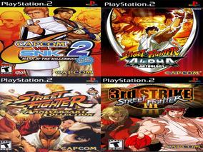 Street Fighter Ps2 Patch - Kit 4 Jogos Com Encarte