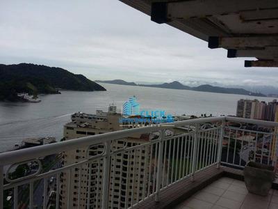 Apartamento Residencial Para Locação, Ponta Da Praia, Santos. - Ap0337
