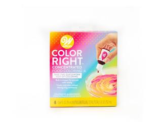 Colorante Color Right Kit 8 Colores Y Tabla- Wilton