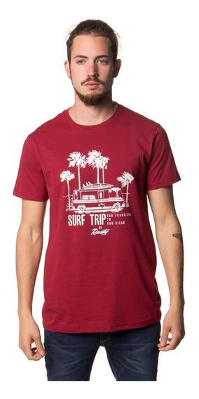 Remera Hombre Rusty Surf Trip Roja