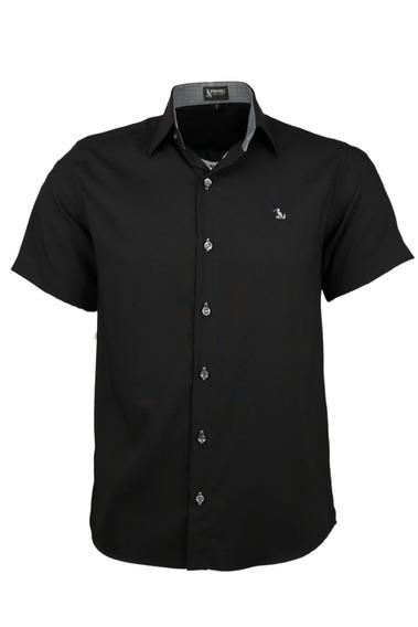 Camisa Dinamo Manga Curta - Preto - Ref 1614