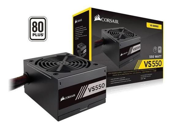 Fonte Corsair Vs550 80plus White. 550w Real. Cp-9020171.