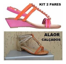 Sandália Dakota Kit 2 Pares 1 Laranja/pink 1 Laranja/ouro