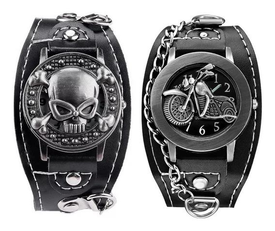 Reloj Rock Envio Gratis Chopper Rockero Metalero Piel Sinte