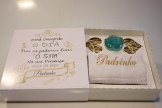 Casamento Convite Padrinho Madrinha O Sim Toalha 6 Uni