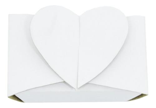 50 Caixinhas Retangulares Com Fecho De Coração Para Festas
