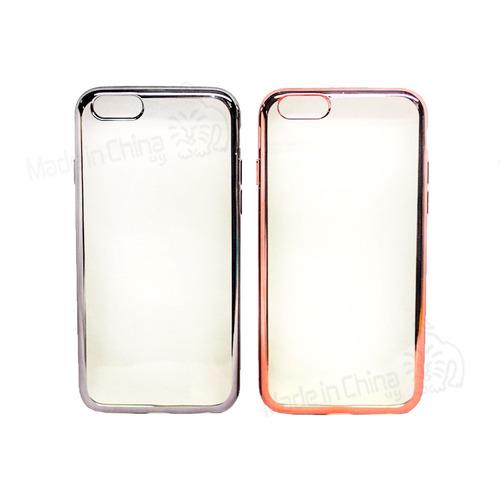 Protector De Silicona Borde De Color iPhone 6  Cf-978