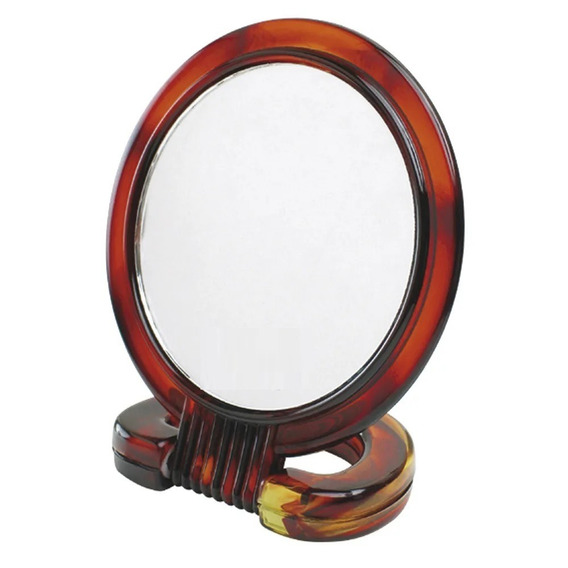 Kit 6 Espelhos De Mesa Aumento Dupla Face Plástico 12cm