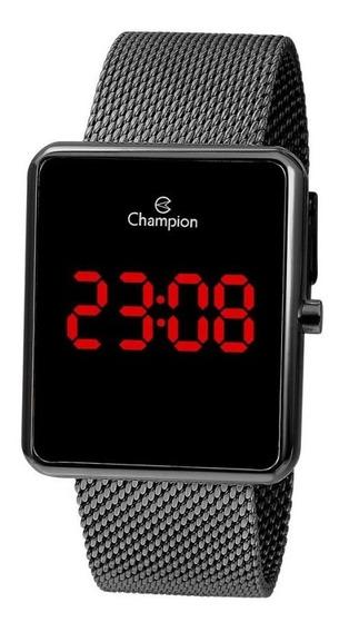 Relógio Champion Feminino Digital Led Grafite Ch40080c