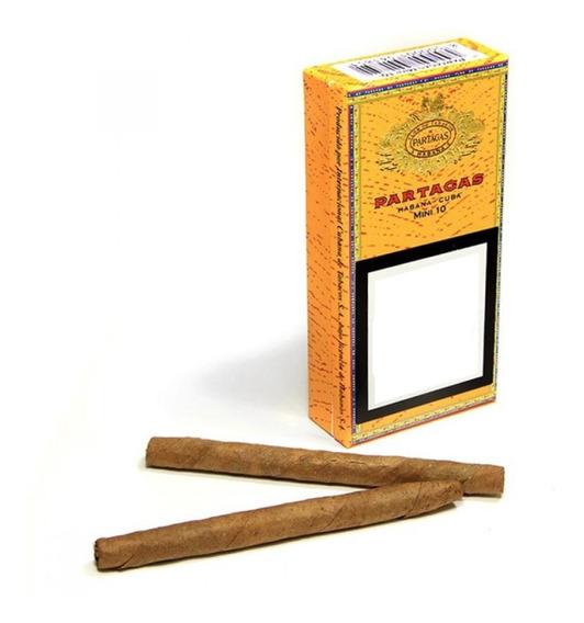 Habanos Cubanos Partagas Mini 10 P/ Fumar Cigarros Caja