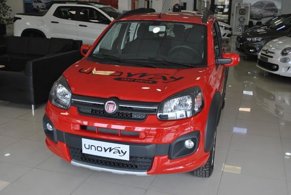 Fiat Uno Way 1.3 Rojo 2019 0 Km Nuevo!