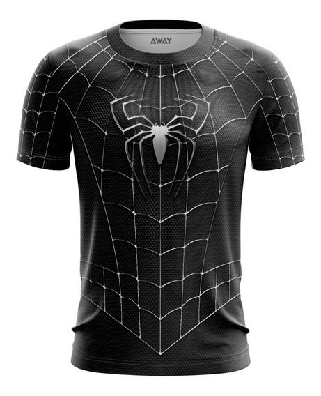 Camisa Camiseta 3d Homem Aranha Venom Preto