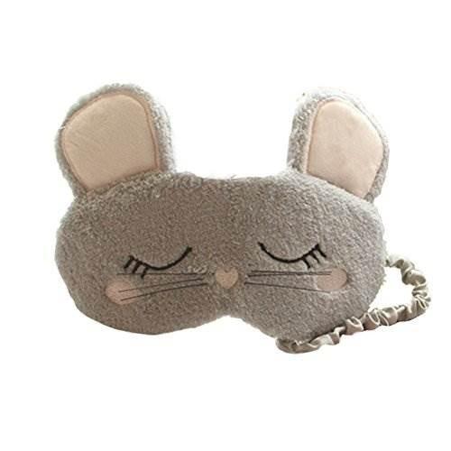 Actlati Cartoon Mouse Plush Sleep Eye Mask Cute Animal Night