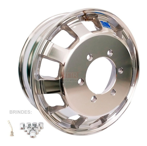 Roda De Alumínio Iveco 35s14 E 45s14 Aro 17,5 E Frete Grátis