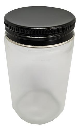 Imagem 1 de 4 de .10 Pote Comprido Bolo Vidro Com Tampa Prata Dourada 115ml